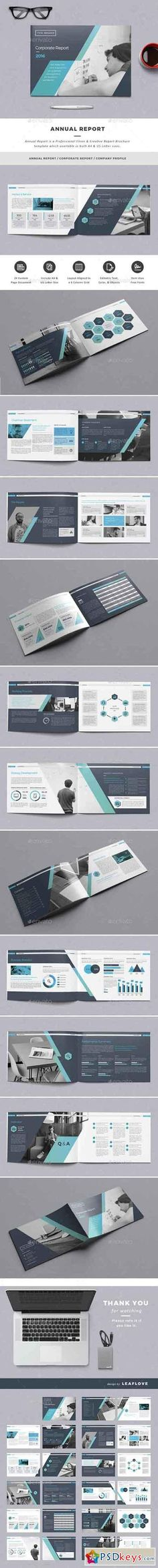 Annual Report Brochure Template InDesign INDD - 20 Pages A4 - annual report templates free download