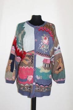 Cardigan ursuleti anii '80 http://www.vintagewardrobe.ro/cumpara/cardigan-ursuleti-anii-80-7496396 #vintage #vintagewardrobe #vintageautentic #vintagesweaters #1980s