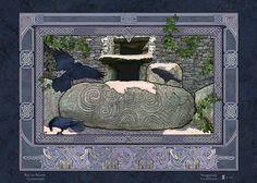 NEWGRANGE PASSAGE TOMB > Irish Sites: by Jeff Fitzpatrick Adams @ Irish Celtic Illuminations > http://www.irishcelticilluminations.com/ > http://www.facebook.com/IrishCelticIlluminations