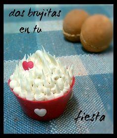 Cupcake de cereza y vainilla