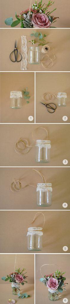 Potes decorados para casamento