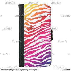Rainbow Stripes iPhone 6/6s Wallet Case