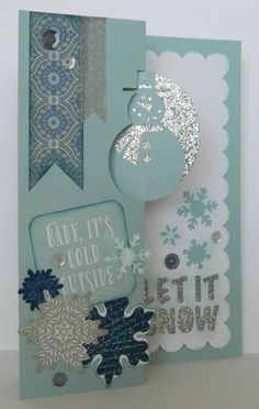 Cricut Artfully Sent Cartridge, Scene Card, Christmas Card,Glitter Paper,Snowflake Stamp Set,