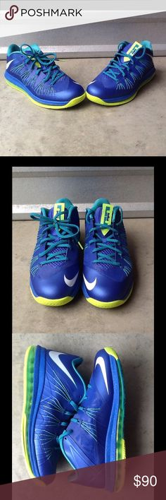 """Nike Lebron 10 Low """"Sprite"""" Condition 9/10...great condition Nike Shoes Sneakers"""