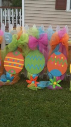 Easter egg wreath swag door hanger by LotSigns on Etsy, $70.00
