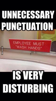 Unnecessary; Punctuation