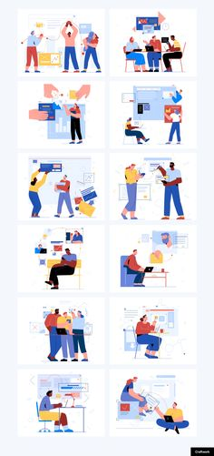 Teammates is a brand new pack of 12 flat and stylish illustrations. Create beautiful websites, applications and presentations using these high-detailed Flat Design Illustration, People Illustration, Funny Illustration, Character Illustration, Graphic Illustration, Coffee Illustration, Maps Design, Design Ios, Male Character