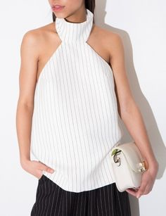 Finders Keepers Limitless Top - Halter Pin Stripe Top -