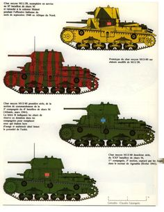 Italian tanks camo