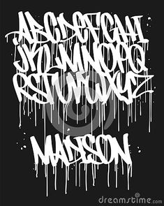 Illustration about Marker Graffiti Font, handwritten Typography vector illustration. Illustration of graffiti, poster, exclusive - 146371987 Art Deco Typography, Graffiti Lettering Fonts, Typography Drawing, Handwritten Typography, Tattoo Lettering Fonts, Typography Alphabet, Typography Poster Design, Creative Lettering, Birthday Typography