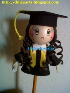 Dulce Art's: GRADUADOS (FORMADOS) 22nd Birthday, Biscuit, Pasta Flexible, Paper Quilling, Diy And Crafts, Frozen, Baby Shower, Dolls, Floral
