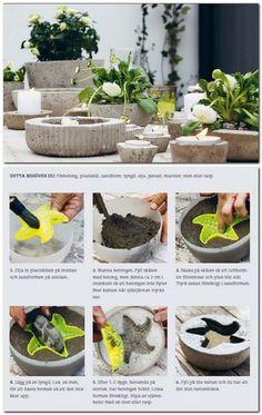 macetero cemento #DIY