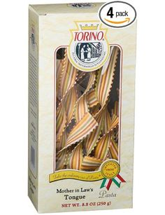 Torino Designer Pasta Mother In Law's Tongue, 8.8-Ounces Boxes (Pack of 4): Amazon.com: Grocery & Gourmet Food