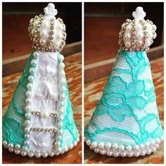 NOVIDADE Nossa Senhora Aparecida  Baby com manto em renda AZUL!!!!!! Ótima opção para lembrança já disponível no site www.feitamao.com.br