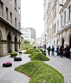 Urban Garden Art Berms in Lima, Peru - by Gran Semana de Lima