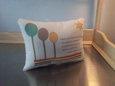 Nursery throw pillow neutral mod Ralph Waldo by SweetMeadowDesigns