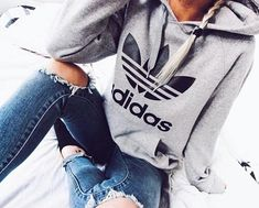 adidas, jeans, and outfit afbeelding