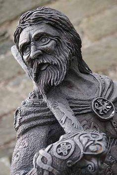 Statue of Owain Glyndwr, Church Garden, Pennal, near Machynlleth