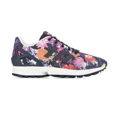 adidas zx flux rose splash violet blanc