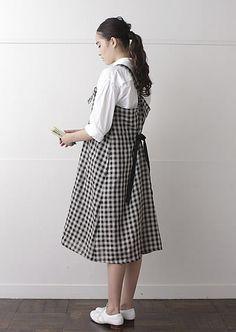 nooy kitchen A-line dress:apron Gingham check