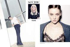 Jessica Stroup wearing Karolyn Pho mesh tee featured in So Chic Magazine