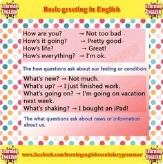 basic greetings - learning basic English