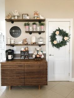 Your place to buy and sell all things handmade round COFFEE BAR metal sign Coffee Bar Station, Coffee Station Kitchen, Coffee Bars In Kitchen, Coffee Bar Home, Home Coffee Stations, Coffee Bar Ideas, Coffee Area, Coffee Nook, Coffe Corner
