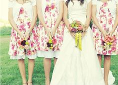 Love these pink floral frocks with underskirts but would probably have them full length with casual sandles
