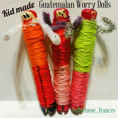 Discovering The World Through My Son's Eyes: Kid Made Guatemalan Worry Dolls: Muñeca Quitapenas