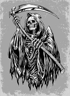 Grim Reaper Death Scythe 3.5 inch Sticker Vinyl Decal Stickers die cut