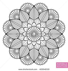 Find Flower Mandala Vintage Decorative Elements Oriental stock images in HD and millions of other royalty-free stock photos, illustrations and vectors in the Shutterstock collection. Mandala Doodle, Mandala Drawing, Drawing Flowers, Mandala Book, Mandala Art Lesson, Mandala Coloring Pages, Coloring Book Pages, Mandala Oriental, Indian Mandala