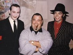 "Paul ""Pee-Wee Herman"" Reubens, Frank DiLeo and Michael Jackson"