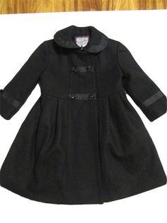 b461bec87ad7 Rothschild Black Wool Blend Girl s Coat 3T