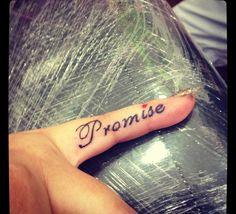 My little finger tattoo.. Pinky promise ❤