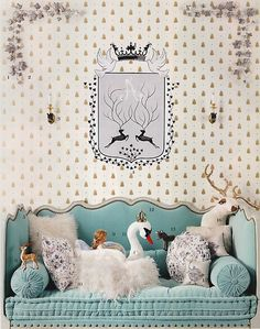 playroom with deer &