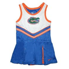 Florida Gators Toddler / Girls Athletic Comfortable Fit Sleeveless Cheerleader Dress / Tank Dress with Embroidered Logo