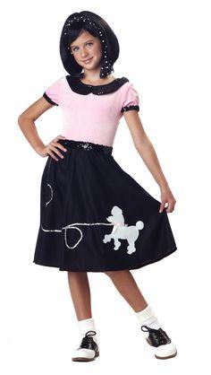 Poodle Skirt For Girls 456 Light Blue