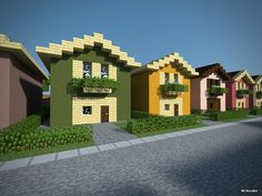 Minecraft gebäude MCNoodlor: Suburban Bundle 2 Tarps Buying the Easy Wa Easy Minecraft House Designs, Modern Minecraft Houses, Minecraft Houses Survival, Minecraft House Tutorials, Minecraft Houses Blueprints, Minecraft Architecture, House Blueprints, Minecraft Tutorial, Minecraft Buildings