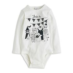 Hang out with fang gang in this super soft bodysuit in organic cotton.