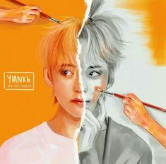 This is Teahyung Taehyung Fanart, V Taehyung, Namjoon, Pop Kpop, Bts Art, Aesthetic Desktop Wallpaper, Iphone Wallpaper, Bts Chibi, Kpop Fanart