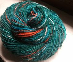 Love the colorway of this yarn from Weird & Twisted