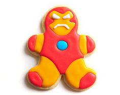 Iron Man Superhero Sugar Cookies by guiltyconfections on Etsy, $21.00  Seriously the cutest superhero cookies that I have ever seen.  Love the Thor one!