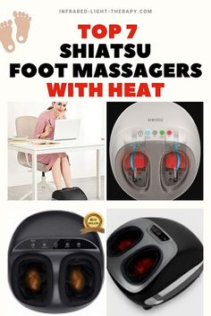 If you think that using a heated shiatsu foot massager is just another way to relax your tired and aching feet at the end of the day – think again.  Heated shiatsu massage is a natural, cost-effective medical treatment that is a must for people who suffer from poor blood circulation, heel pain (Plantar Fasciitis), Neuropathy, flat feet, and arthritic feet. Natural Pain Relief, Heel Pain, Foot Massage, Ways To Relax, Plantar Fasciitis, Light Therapy, Side Effects, Flat Feet, Medical
