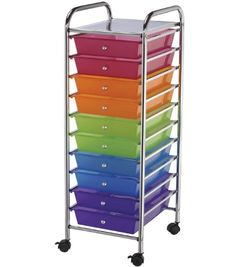 Blue Hills Studio Storage Cart with 10 Drawers, 13-Inch by 38-Inch by 15-1/2-Inch, Multi-Color Blue Hills Studio http://smile.amazon.com/dp/B002GAXH5W/ref=cm_sw_r_pi_dp_iJjWtb1EH33F8219