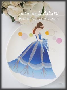*インストラクターカリキュラム* グラデーションプレート♡ シルクフラワー&シュールデコール&ポーセラーツ名古屋教室『Salon de L'Allure』