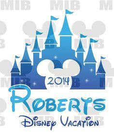 MAGIC KINGDOM Cinderella Castle Family Vacation 2014 - Digital Image - Printable to Create Family Disney Vacation Shirts on Etsy, $6.00