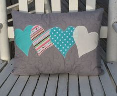 Valentine's pillow Heart pillow decorative by TheQuiltedPillow