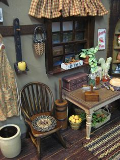 rustic mini kitchen