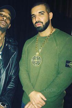 Drake wearing  Stone Island 512B8 Pigment Dye, IF