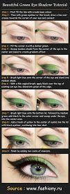 Pinterest Tutorials: Beautiful Green Eye Shadow Tutorial